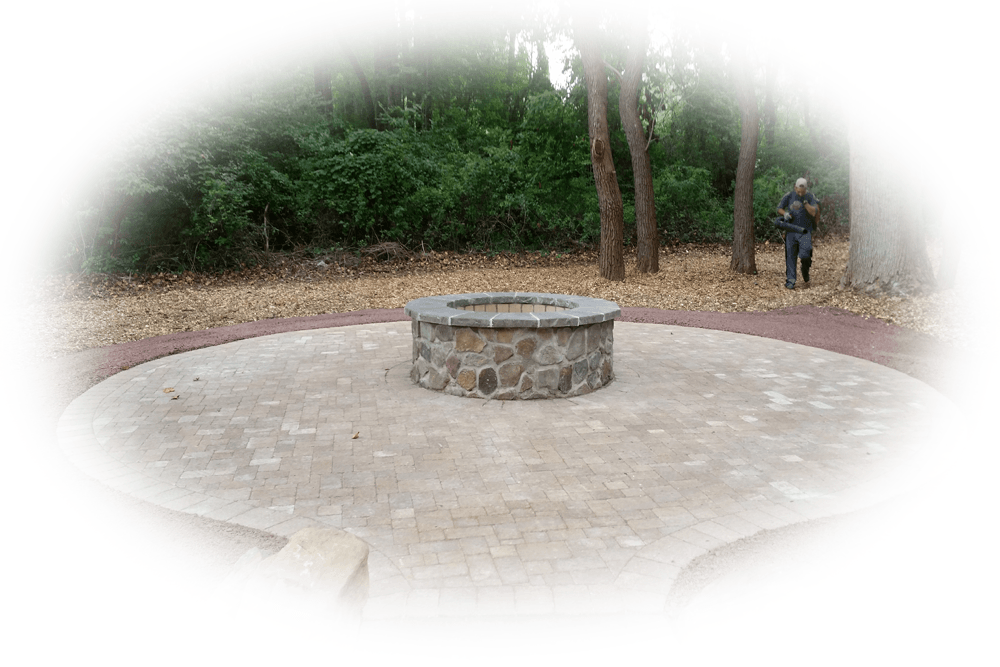 Patio with Fire Pit in Media, Garnet Valley, Glen Mills, & Wallingford PA - ScapeWorx Landscaping